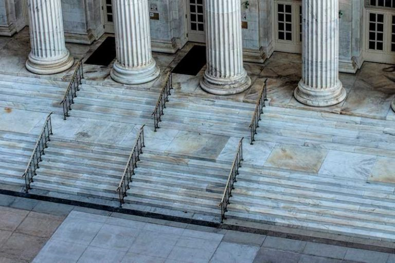 Marble stairs at courthouse
