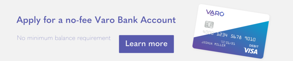 Apply for no-fee bank account