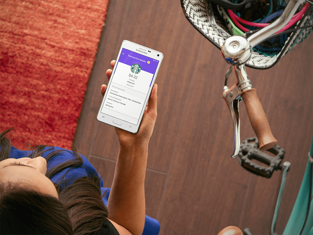 Female mobile banking with Varo