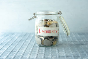 Jar of change for emergencies