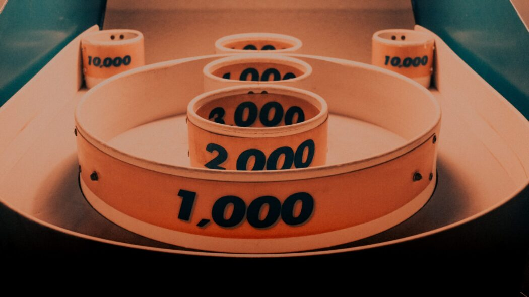 The scoring rings of a skee ball game